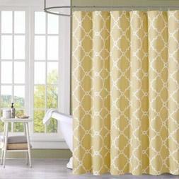 "Madison Park MP70-2300 Saratoga Shower Curtain 72x72"" Yellow"