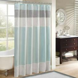 Madison Park MP70-2978 Amherst Faux Silk Shower Curtain 72X7