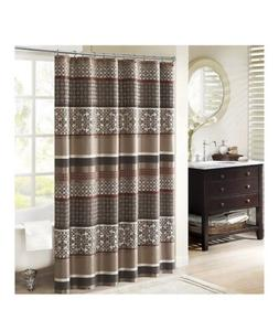 Madison Park MP70-3040 100% Polyester Jacquard Shower Curtai
