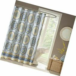 """Madison Park MP70-1489 Tangiers Shower Curtain, 72 x 72"""", Bl"""