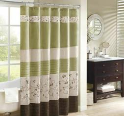 "Madison Park Mp70-1918 Serene Shower Curtain 72X72"" Green """