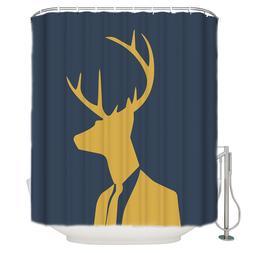 Mr. Cartoon Deer <font><b>Shower</b></font> <font><b>Curtain