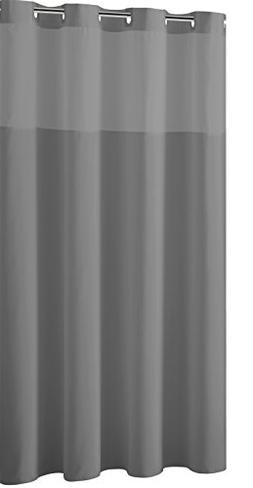 Mystery EZ-On RBH40MY225 Sheer Fabric Shower Curtain with Li