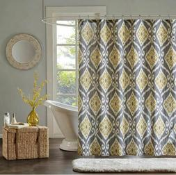 Madison Park Nadie Printed Shower Curtain 72x72 Yellow