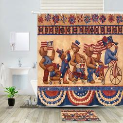 National Day Victory Parade Shower Shower Curtain Bathroom D