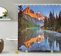 Ambesonne National Parks Home Decor Shower Curtain, Canadian