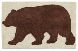 Natures Trail Bathroom Bear Moose Cabin Lodge Shower Curtain