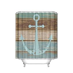 BMALL Nautical Anchor Rustic Wood - Shower Curtain Custom Ma