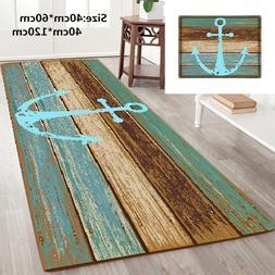 Nautical Ship's Anchor Non-slip Shower Curtain Bathroom Mat
