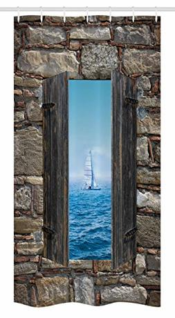 nautical stall shower curtain