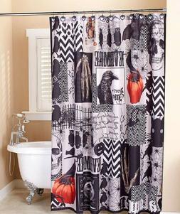 Nevermore Bath Decor Halloween Bathroom Shower Curtain Acces