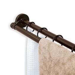 TITAN NeverRust Aluminum Double Straight Shower Rod in Bronz