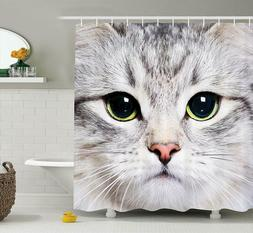 New Ambesonne Cat Decorations, Fabric Shower Curtain - Stand
