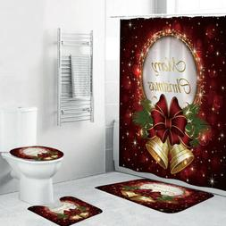 New Christmas Serie Printing Bathroom Shower Curtain Toilet