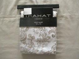 NEW Tahari Home Fabric Shower Curtain COGNAC DAMASK Soft Bro