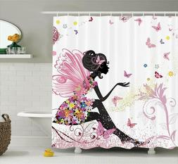 "New Ambesonne Fabric Shower Curtain - Standard, 69"" x 70"""
