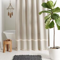 NEW Koolaburra by UGG Kenz Shower Curtain Birch Beige Elegan