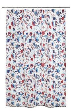 """NEW IKEA KRATTEN SHOWER CURTAIN Multicolor Flowers 71x71"""""""