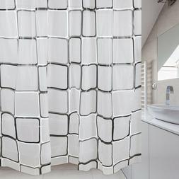New Modern Bathroom Shower Curtain Extra Long Wide 180 x Dro
