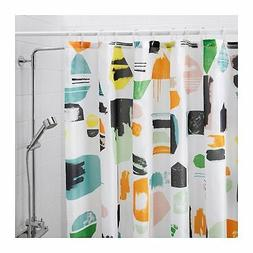 NEW IKEA MULTI HAPPY SPLASH OF COLOR  SHOWER CURTAIN,  DOFTK