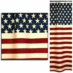 New Shabby Primitive Country AMERICAN FLAG Stars Stripes Fab