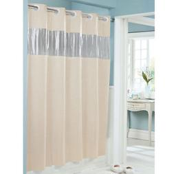 New Hookless Shower Curtain Beige 71 x 74 Vinyl Vision See T