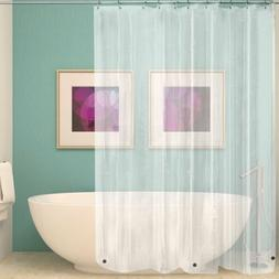 NEW SOLID WATER REPELLANT BATHROOM SHOWER CURTAIN PEVA LINER