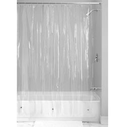 NEW SOLID WATER REPELLANT BATHROOM SHOWER CURTAIN VINYL PLAS