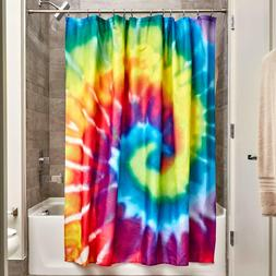 NEW InterDesign Tie Dye Fabric Shower Curtain