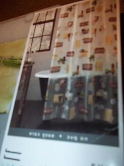 "NEW EXCELL VINYL SHOWER CURTAIN 70"" X 72"" ART OF WELLNESS FL"