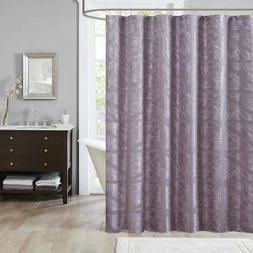 Madison Park Nico Jacquard Shower Curtain 72x72 Purple