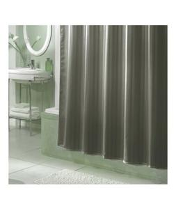 NIP Excell DAMASK STRIPE Fabric Shower Curtain/Liner 70x72 ~