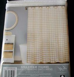nip finley beige white cotton matelasse shower
