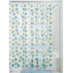 InterDesign Novelty EVA Shower Curtain, 72 x 72-Inch, Fishy,