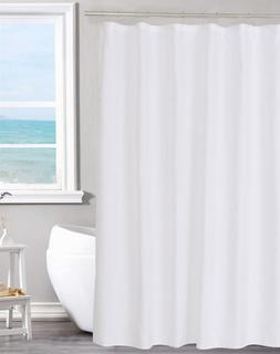 Fabric Shower Curtain Liner Solid White, Hotel Quality, Mild