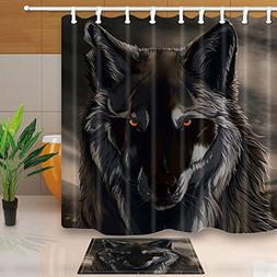 KOTOM NYMB Animals Decor, Watercolor Wolf with Horrible Eyes