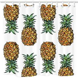 NYMB Tropical Fruit Decor, Vintage Pineapple Fruits with Lea