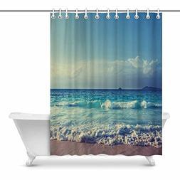 InterestPrint Ocean Beach in Sunset Time Art Digital Print P