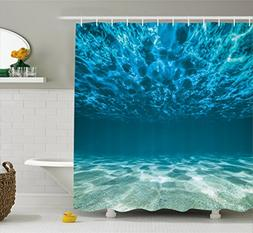 Ambesonne Ocean Decor Collection, Bright Gravelly Bottom and