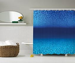 Ambesonne Ocean Decor Collection, Bright Sandy Bottom and Tr