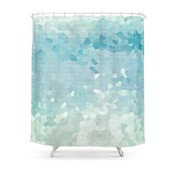 """Society6 Ocean Palette Shower Curtain 71"""" by 74"""""""