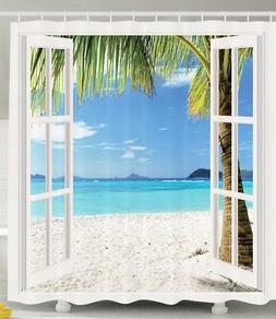 Ambesonne Ocean Shower Curtain Decor by, Tropical Palm Trees