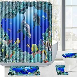 Amagical 16 Piece Ocean Style Underwater World Dolphin Bathr