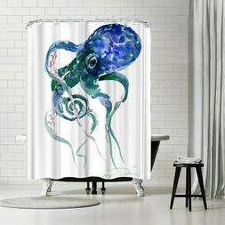 Americanflat 'Octopus Blue Green' Shower Curtain