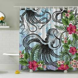 Ambesonne Octopus in Tropical Underwater Print Shower Curtai