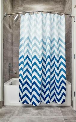 ombre chevron fabric shower curtain modern mildew