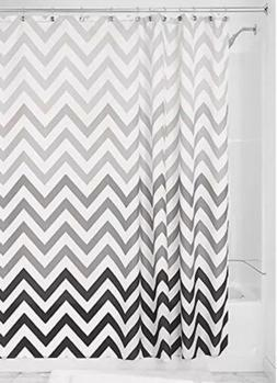 InterDesign Ombre Chevron Shower Curtain, Gray/Multicolor, 7