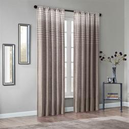 Ombre Rod Pocket Curtain Single Panel Color: Tan