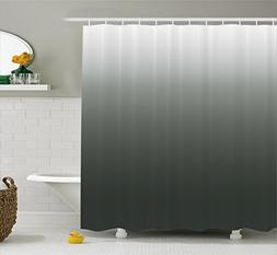Ambesonne Ombre Shower Curtain, Smoke Fog Futuristic Inspira