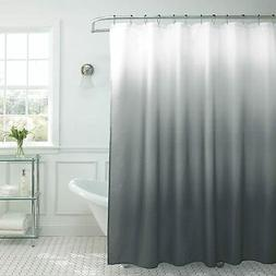 Creative Home Ideas Ombre Textured Shower Curtain with Beade